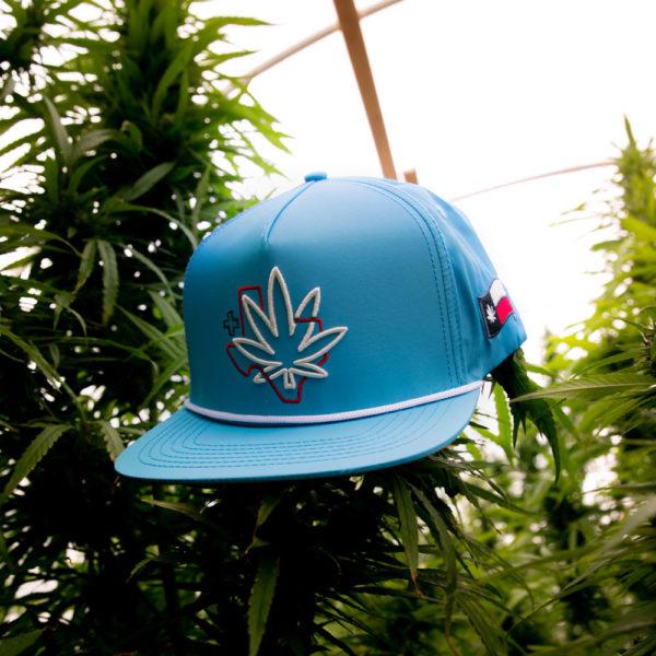 Texas Cannabis Supply Tan Hat Blue Hat